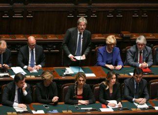 Πάολο Τζεντιλόνι, ψήφο εμπιστοσύνης, ιταλική Βουλή,