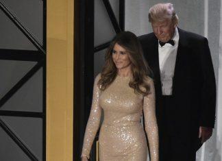 Απαστράπτουσα, με γοργονέ φόρεμα η Μελάνια Τραμπ