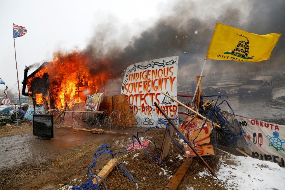 διαδηλωτές, βόρεια Ντακότα,
