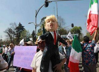 Αμερική, Μεξικό, Τραμπ, διαδηλώσεις,