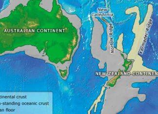 Zealandia, ήπειρος,