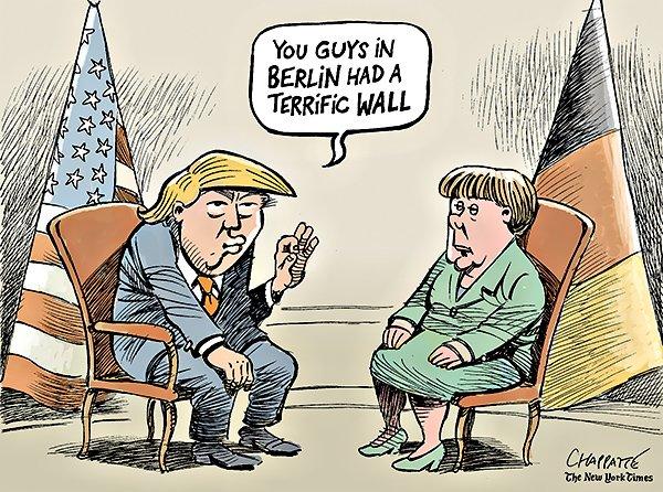 Τραμπ, Μέρκελ, συνάντηση,