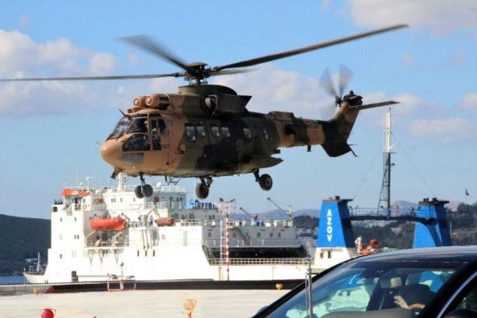 Και δεύτερο τουρκικό ελικόπτερο πάνω από τα Ιμια