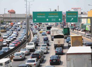 """""""Χαμός"""" στην Ε.Ο Αθηνών-Λαμίας: Τέσσερα χιλιόμετρα οι ουρές των αυτοκινήτων"""