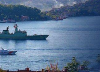 ρωσικό, πολεμικό σκάφος, σύγκρουση, Βόσπορος,