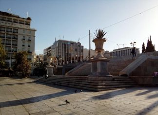 Πλατεία Συντάγματος: Εργάτες ανακάλυψαν οβίδα του Β΄ Παγκοσμίου Πολέμου