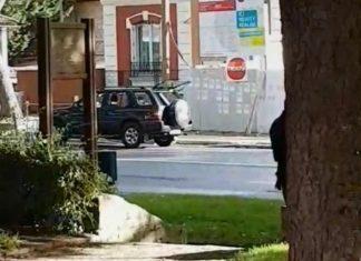 Γαλλία, αυτοκίνητο, πεζούς, τέμενος,