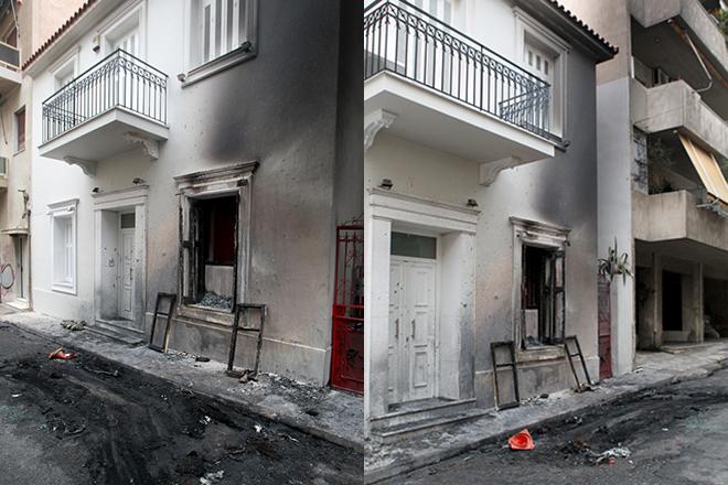 Επίθεση με πέτρες και μολότοφ στο σπίτι του Αλέκου Φλαμπουράρη