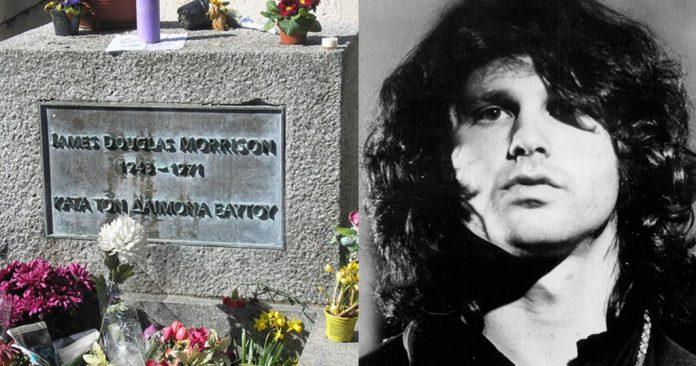 Τζιμ Μόρισον, ελληνική φράση, τάφος,