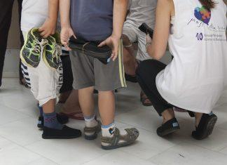 Δήμος Βύρωνα, παπούτσια, παιδιά,