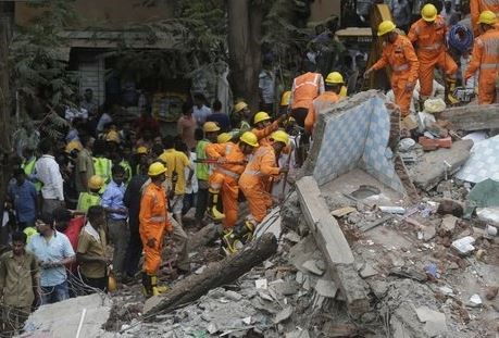 Ινδία, κατέρρευσε, κτίριο,