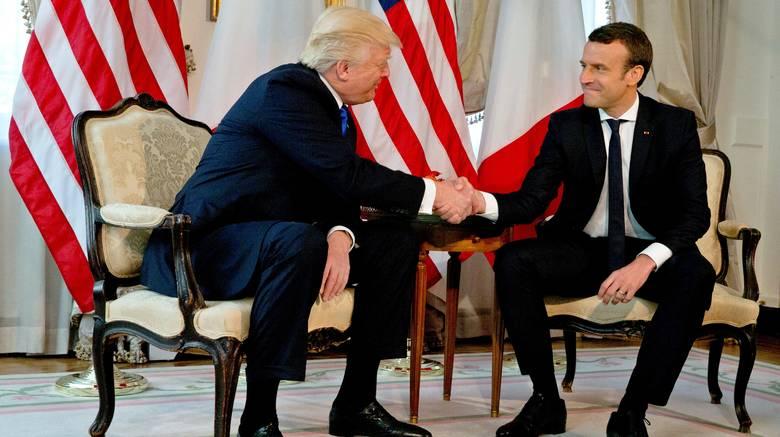 Παρίσι, Τραμπ, Μακρόν,