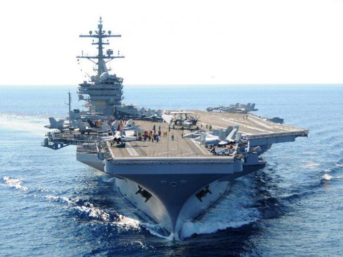 γεώτρηση, Κύπρος, αεροπλανοφόρο Τζορτζ Μπους,