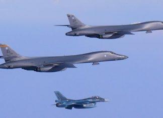 Βόρειο Κορέα, αμερικανικά βομβαρδιστικά,