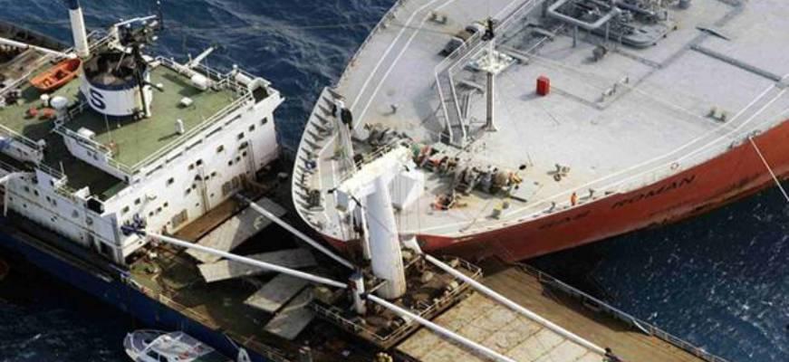 σύγκρουση, δεξαμενόπλοιο, φορτηγό πλοίο,