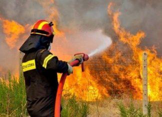Χαλκιδική: Ανεξέλεγκτη πυρκαγιά στη Σιθωνία