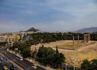 Αθήνα, καπνός, φωτιά, Κάλαμος,