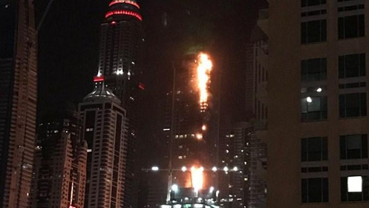 Ντουμπάι, πυρκαγιά, ουρανοξύστης,