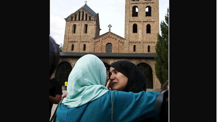 Ισπανία, διαδήλωση, Μουσουλμάνων, τρομοκρατία,