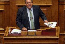 Καμμένος: Θα αποσύρω την εμπιστοσύνη στην κυβέρνηση αν έρθει στη Βουλή η συμφωνία των Πρεσπών