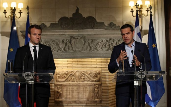 Τσίπρας, Μακρόν, ολοκλήρωση προγράμματος, ανάπτυξη, Ελλάδα,