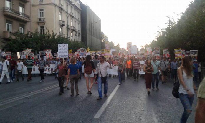 Πειραιάς: Επεισόδια στο αντιφασιστικό συλλαλητήριο για τον Παύλο Φύσσα