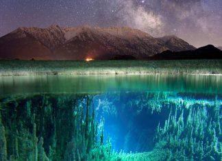 φωτογραφία, γαλαξίας, βουνό, ποτάμι,