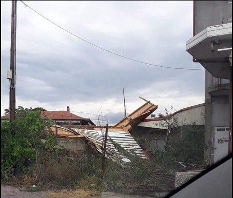 Άθυρα Πέλλας, καταιγίδα, πτώσεις δένδρων, καταστροφές,