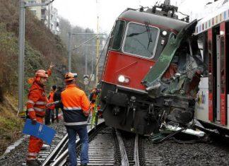 Ελβετία, σιδηροδρομικό ατύχημα, τραυματίες,