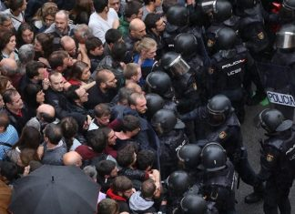 Ισπανία, Καταλονία, πλαστικές σφαίρες, τραυματίες,
