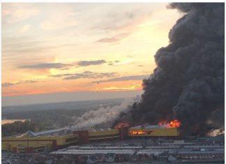 Μόσχα, πυρκαγιά, εμπορικό κέντρο,
