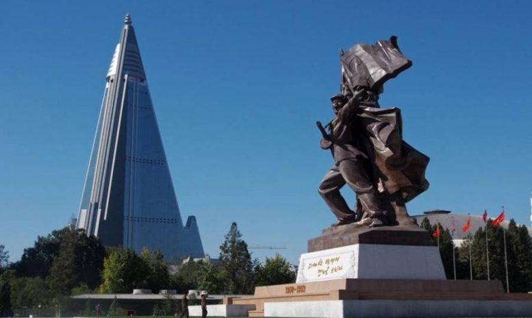 Βόρεια Κορέα, εγκαταλειμμένο, κτίριο, Κόσμος,
