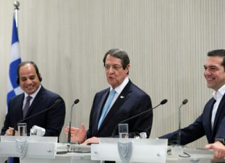 Στενή η συνεργασία Ελλάδας-Κύπρου-Αιγύπτου