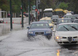 Ισχυρή καταιγίδα στην Αθήνα