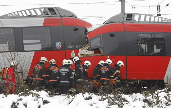 ΒΙΕΝΝΗ: Οκτώ τραυματίες από σύγκρουση δύο τρένων