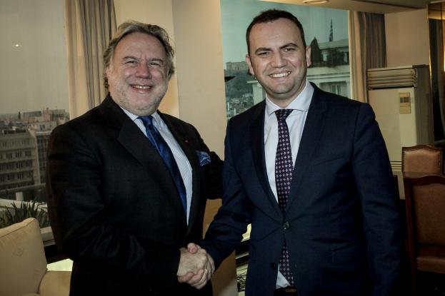 Γ. Κατρούγκαλος - Μπ. Οσμάνι: Συζήτησαν για την οικονομική συνεργασία Ελλάδας - πΓΔΜ