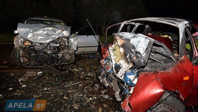 Σπάρτη: Τροχαίο με δύο νεκρούς - Διαλύθηκαν τα αυτοκίνητα