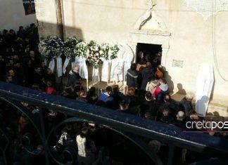 ΣΤΑ ΜΑΥΡΑ Η ΚΡΗΤΗ: Από την κηδεία του Χρήστου που πέθανε σε τροχαίο μαζί με την αρραβωνιαστικιά του