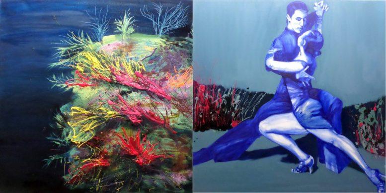 Η εικαστικός Πένη Μαναβή  παρουσιάζει την ατομική της έκθεση ζωγραφικής DANCE ME