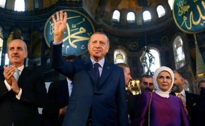 Νέες προκλήσεις Ερντογάν από την Αγία Σοφία