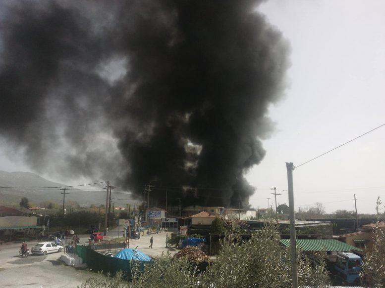 Βόλος: Φωτιά κοντά στα κάτω Λεχώνια