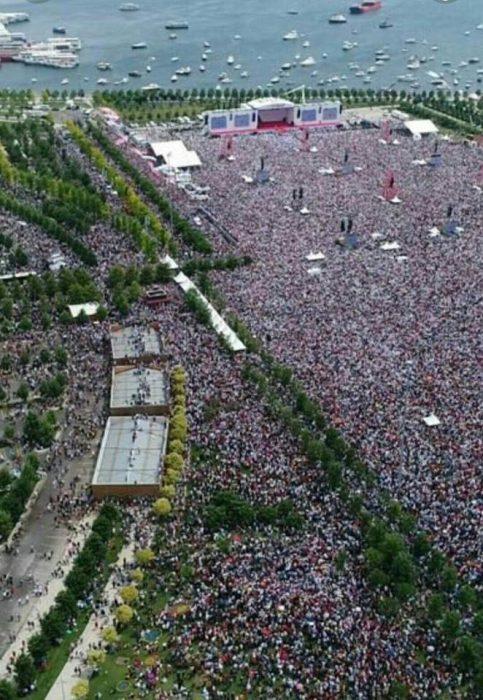 ΤΟΥΡΚΙΑ: Πάνω από 6 εκατομμύρια παρέστησαν στην ομιλία του Ινζτέ