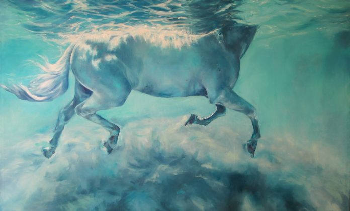 Dépôt Αrt gallery: «ΜΠΛΕ» - Ατομική έκθεση της ζωγράφου Κατερίνας Χατζή