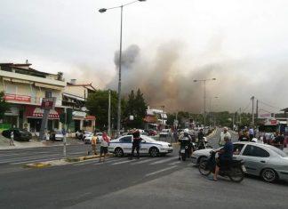 Ραφήνα: Νέες κυκλοφοριακές ρυθμίσεις λόγω της μεγάλης φωτιάς