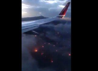 Σοκαριστικό βίντεο Τούρκου δημοσιογράφου - Η πυρκαγιά στην Αττική από αεροπλάνο