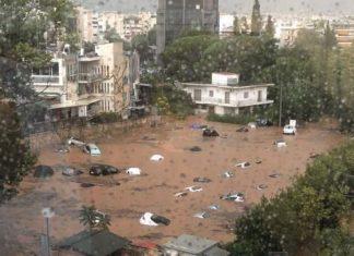 Απίστευτο! Πνίγηκε το Μαρούσι από την καταιγίδα – Πλημμύρισαν Βριλήσσια, Κηφισιά
