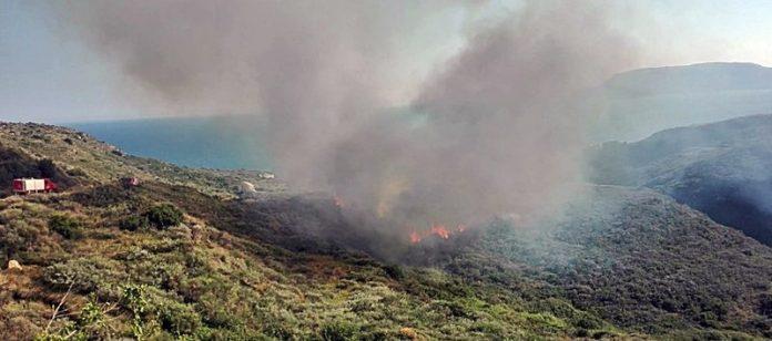 Ζάκυνθος: Ξέσπασε μεγάλη φωτιά στο Καλαμάκι