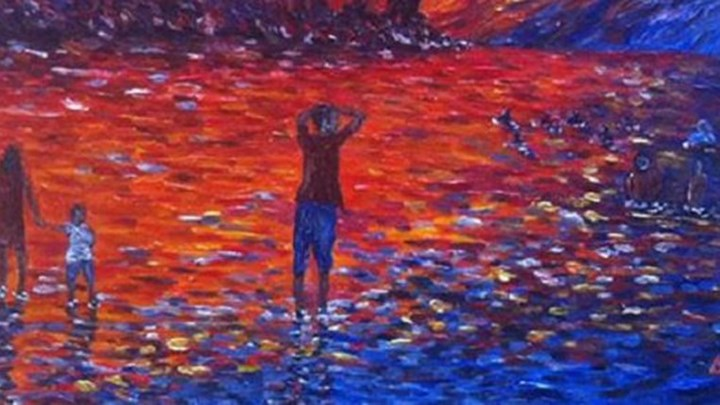 Η εθνική τραγωδία μέσα από έναν πίνακα 18χρονου ζωγράφου (φωτό)