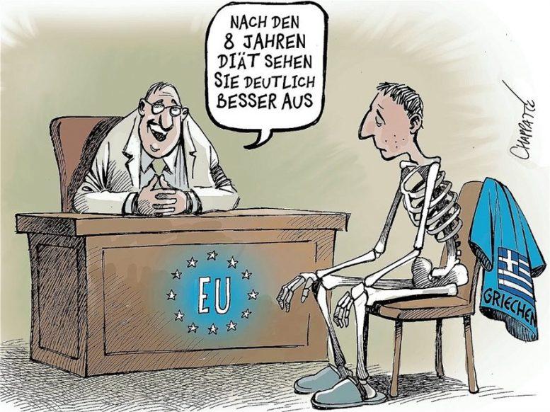 Der Spiegel: Η εντυπωσιακή γελοιογραφία για το τέλος του ελληνικού προγράμματος