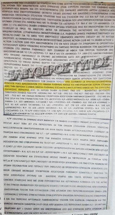 Μάτι Αττικής: Το λιμενικό είχε στείλει σήμα από τις 19:08 για ροές διασωθέντων και σορών